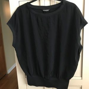 Express Black Dress top
